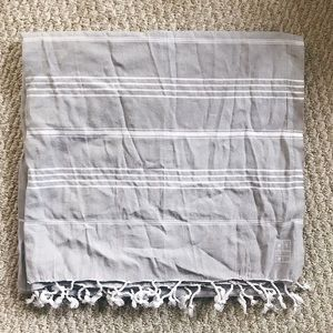 Accessories - New! Rent the Runway gray cotton blanket scarf